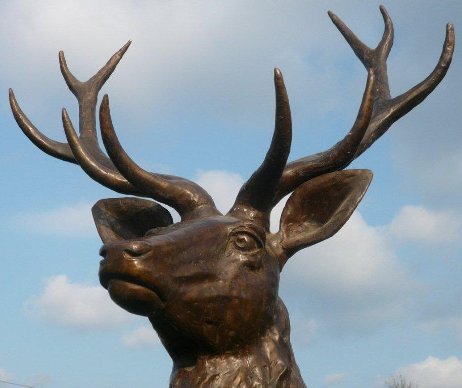 bronze stag head by Elizabeth and Stevens