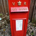 Cast Iron VR red Post Box,vintage post box