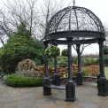 Gazebo in Cast Iron with seating, victorian style