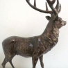 Stag Sculpture in Bronze 70 cm high