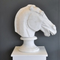 Hand Carved Marble Elgin Horse Head