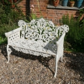 Oak and Ivy Bench white