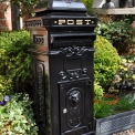 Post Box; Aluminium Black 2 Door