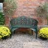 Cast Iron two seater Bench, Laurel Bench in Cast Iron