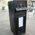 Cast Iron V.R  Black Post Box  two doors