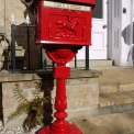 Red Post Box on stand (Aluminium)