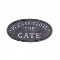 Please close the Gate metal sign