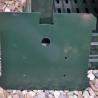 Green Aluminium post box two door