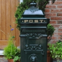 Green Aluminium post box two door