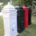 White Aluminium two door post box