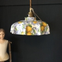 Ceramic Pendant retro light with transfer pattern