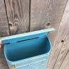 Wall mounted tin small post box , blue