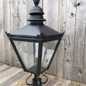 Black galvanised steel lantern top in cast iron, small