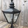 Black galvanised steel lantern top in cast iron, small
