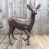 Roe Deer Buck Bronze sculpture