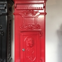 Red Aluminium Post Box