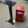 Steel post box stand 85cm high