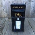 ER Black 80s vintage post box