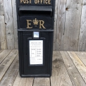 ER Post Box Black Cast Iron ER Post Box in Black