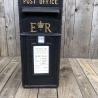 ER Post Box Black Cast Iron ER Post Box in Black