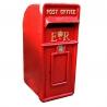 ER Cast Iron Red ER Post Box ,Vintage Post Box Red with ER Gold Lettering