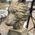 Mr Wolf concrete bust