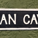 Cast Iron Man Cave wall sign