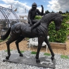 Lifesize Bronze Race horse and jockey