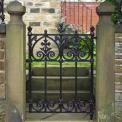 Heavy Cast Iron Terrace Gate,per gate
