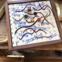 Retro board game snake and ladders