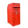 GR  Post Box, Cast Iron Post Box GR in Red with gold Lettering