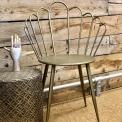 Gold indoor outdoor petal chair in metal