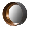 Black and gold 3 d metal round mirror