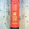 Pillar  post box in red GR