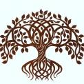 Rusty metal tree of life X L