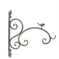 Metal wall bracket with teeny bird