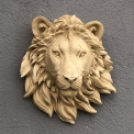 Lion head marble composite wall mounted