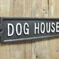 Dog house sign cast iron