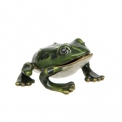 Collectable Green Enamel Frog pill box