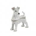 Collectable enamel Schnauzer dog pill box