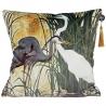 Velvet heron cushion cover and cushion inner
